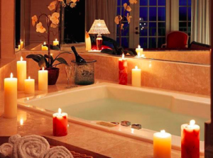 تزيين الحمام بالشموع